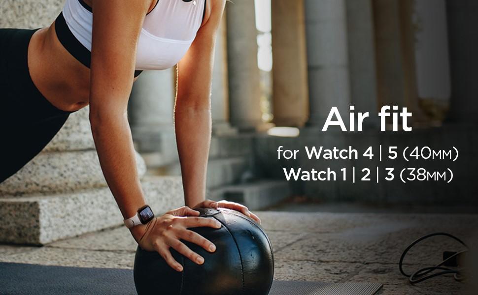 SPIGEN AIR FIT BAND APPLE WATCH 1/2/3/4 (38/40 MM), White (061MP25407)