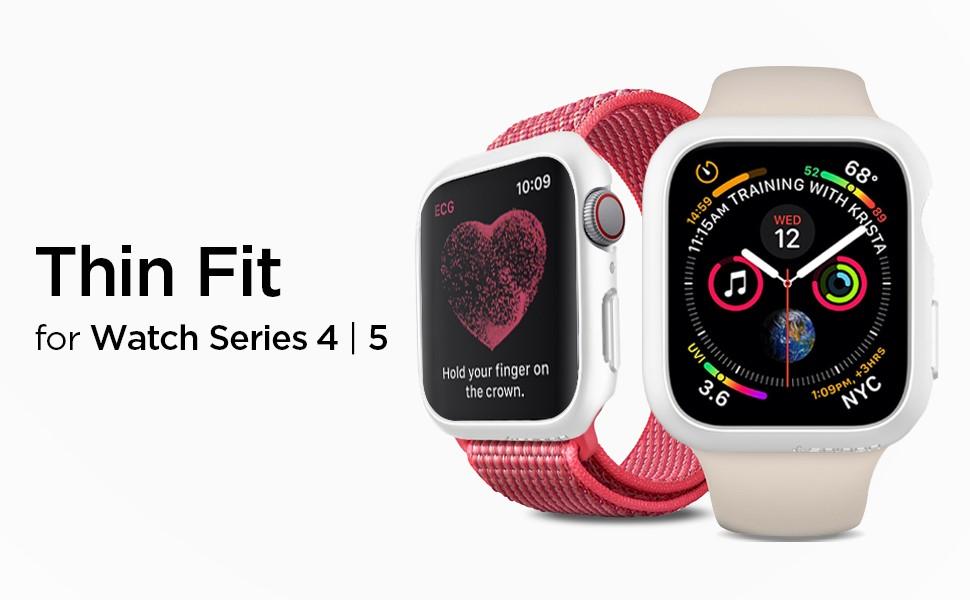 SPIGEN - Apple Watch Series 4/5 (44mm) Case Thin Fit, White (062CS24475)