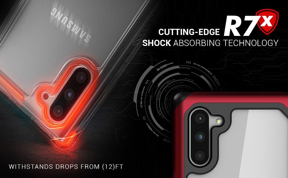 Ghostek - Samsung Galaxy Note 10 Case Atomic Slim 3 Series, Red (GHOCAS2236 )