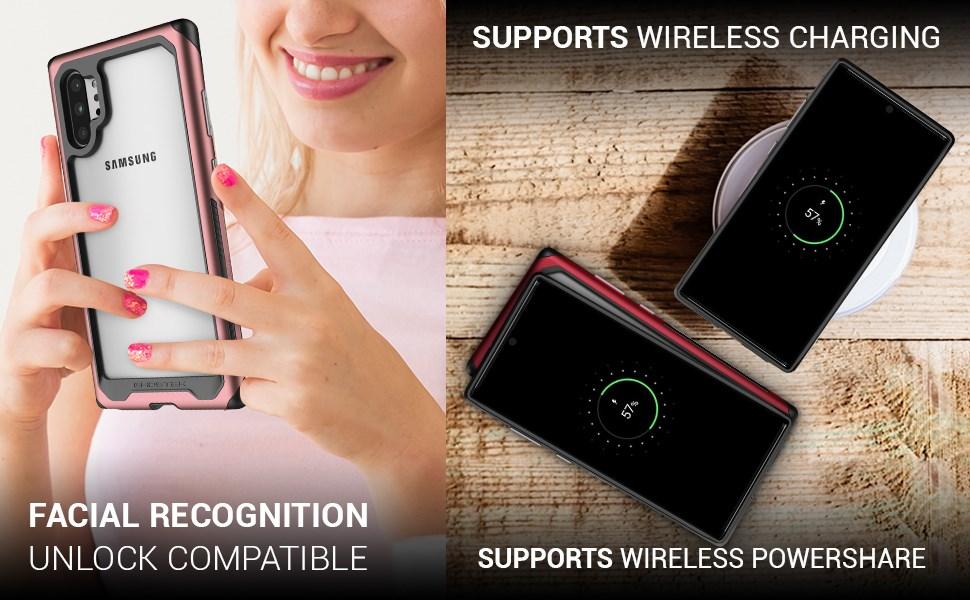 Ghostek - Samsung Galaxy Note 10+ Case Atomic Slim 3 Series, Pink (GHOCAS2238)