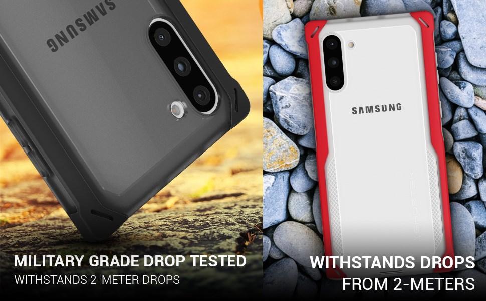 Ghostek - Samsung Galaxy Note 10 Case Cloak 4 Series, Blue/Gold (GHOCAS2255)