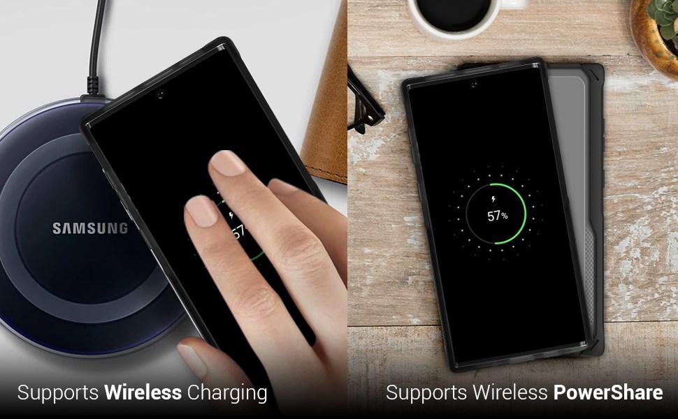 Ghostek - Samsung Galaxy Note 10+ Case Cloak 4 Series, Blue/Gold (GHOCAS2259)