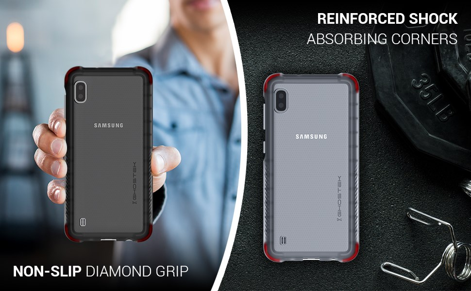 Ghostek - Samsung Galaxy A10 Case, Covert 3 Series, Black (GHOCAS2210)