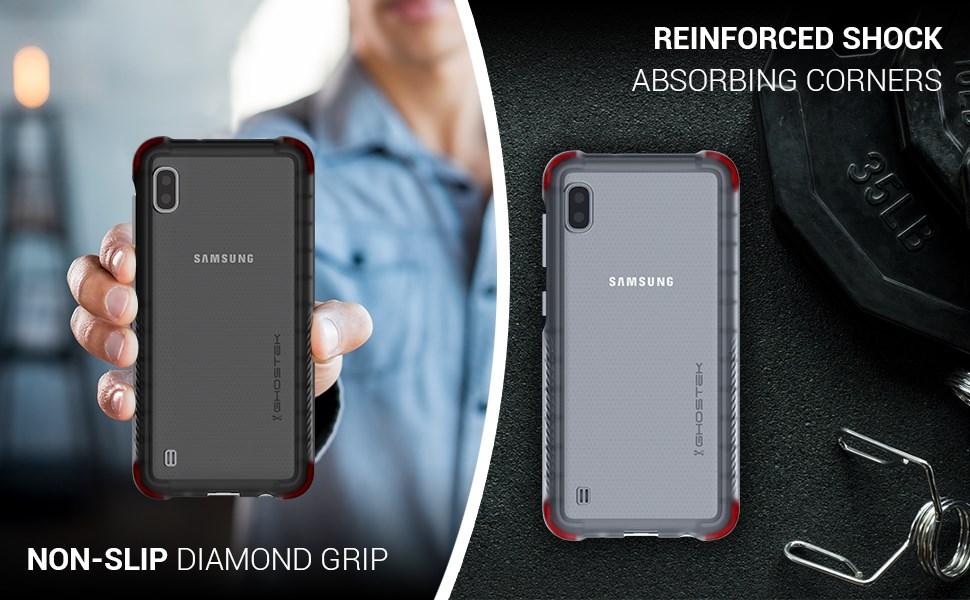 Ghostek - Samsung Galaxy A10 Case, Covert 3 Series, Clear (GHOCAS2211)
