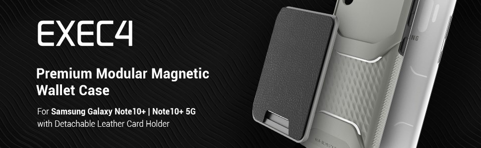 Ghostek - Samsung Galaxy Note 10+ Wallet Case Exec 4 Series, Gray (GHOCAS2289)