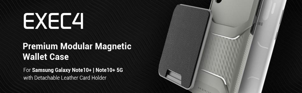 Ghostek - Samsung Galaxy Note 10+ Wallet Case Exec 4 Series, Black (GHOCAS2288)