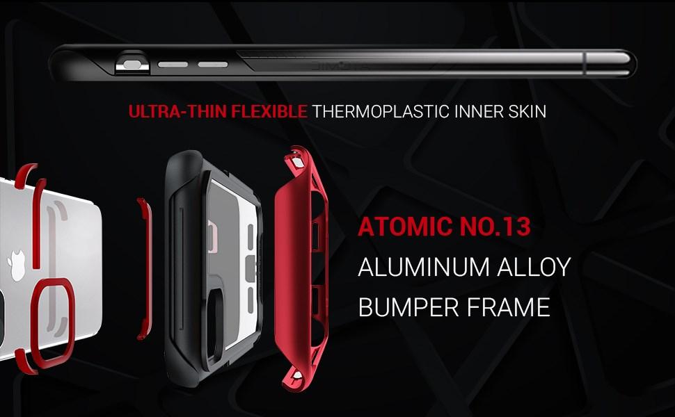 Ghostek - Apple iPhone 11 Case Atomic Slim 3 Series, Red (GHOCAS2230)