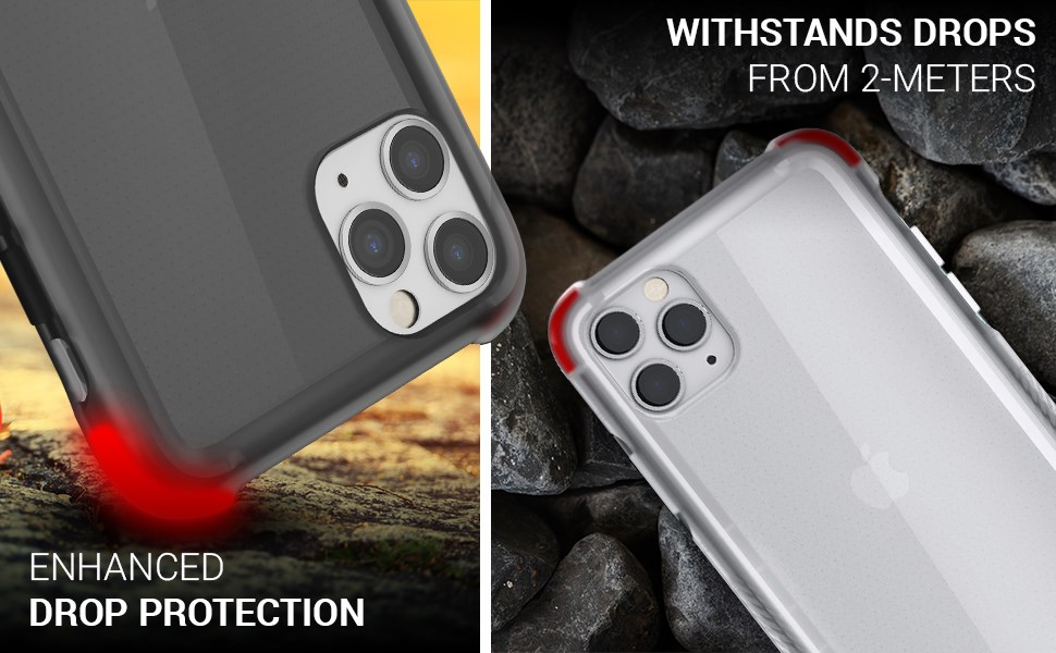 Ghostek - Apple iPhone 11 Pro Case, Covert 3 Series, Clear (GHOCAS2262)