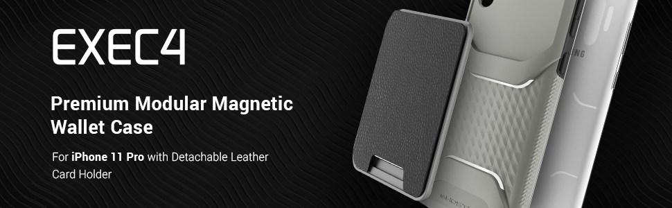 Ghostek - Apple iPhone 11 Pro Wallet Case Exec 4 Series, Pink (GHOCAS2278)