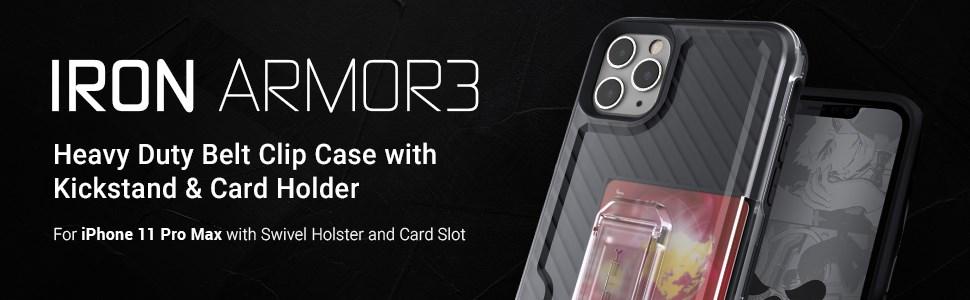 Ghostek - Apple Iphone 11 Pro Max Case Iron Armor Series 3, Blue (GHOCAS2299)
