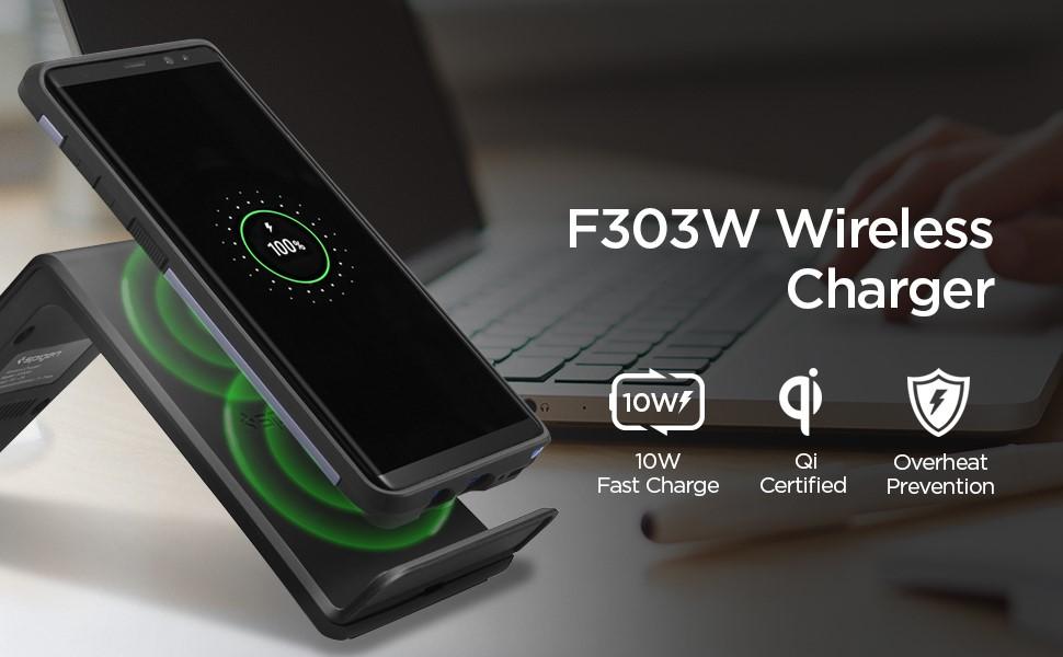 SPIGEN F316W WIRELESS CHARGER BLACK (000CH21378)
